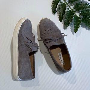 Steve madden grey suede Eban sneakers